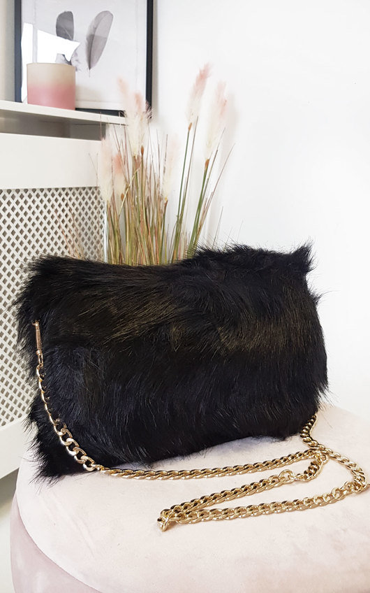 Poppy Faux Fur Shoulder Bag