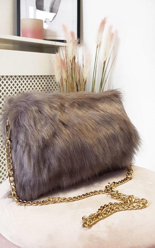 Poppy Faux Fur Shoulder Bag