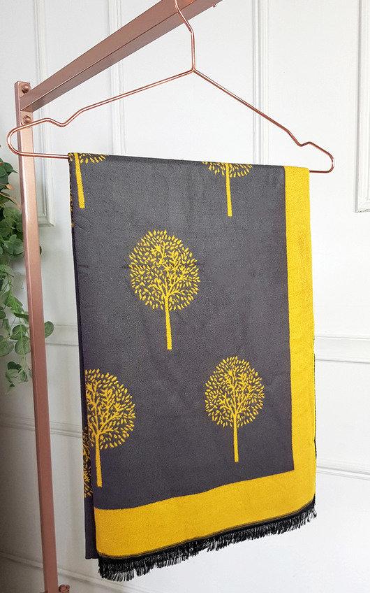 Poppy Two Tone Scarf with Print Design