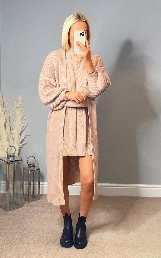 Portia Knitted Mini Dress & Cardigan Co-Ord