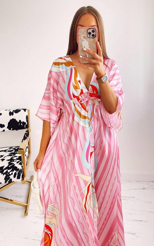 Posie Printed Kimono Dress