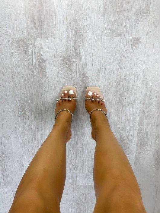 Posie Strappy Diamante High Heels