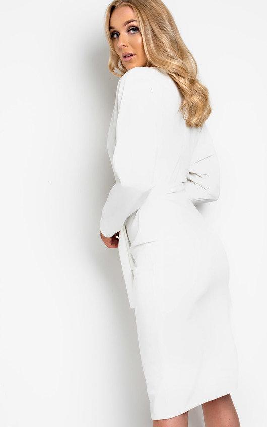 Pria Tie Waist Midi Dress