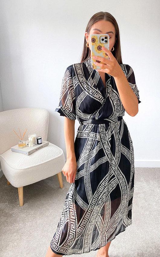 Priya Printed Midi Dress