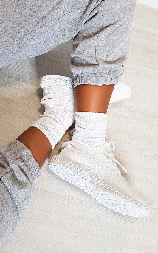 Quinn Lace Up Sock Trainers