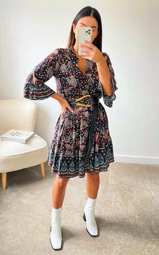 Quinn Printed Smock Dress