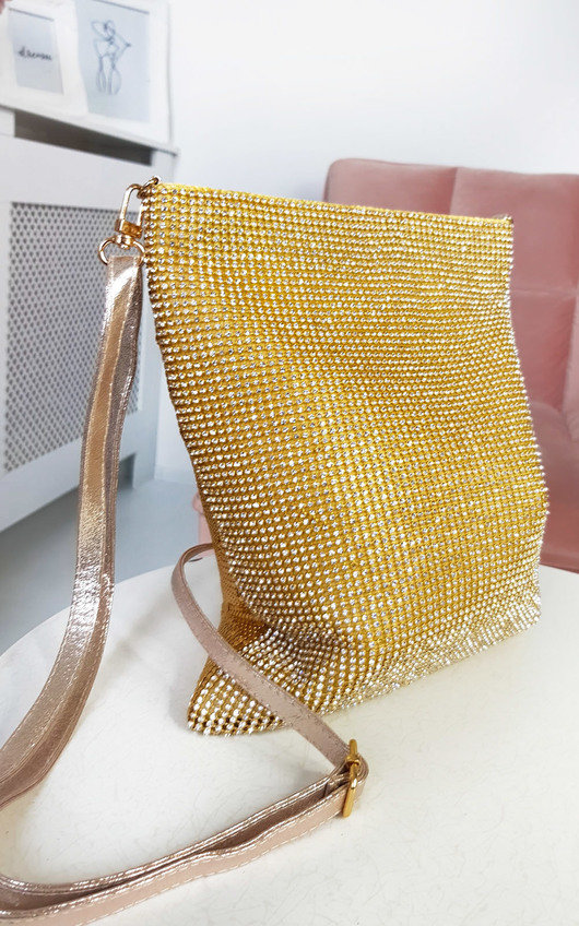 Rach Diamante Cross Body Slip Bag