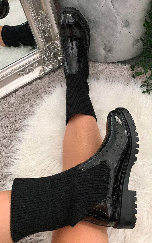Rachel Croc Print Boots