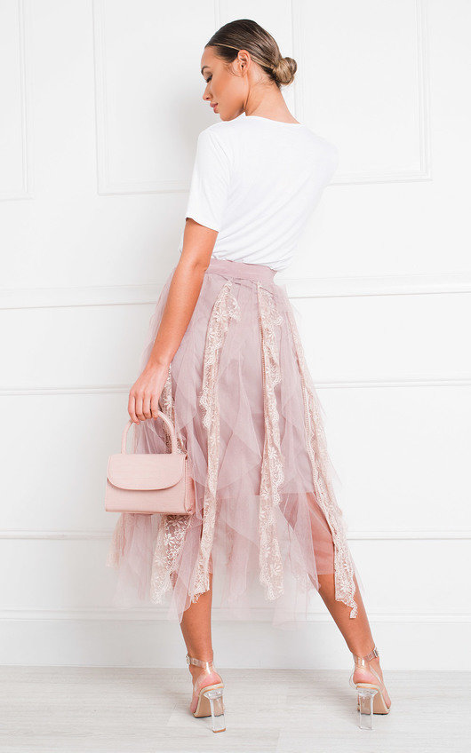 Rada Layered Net Midi Skirt