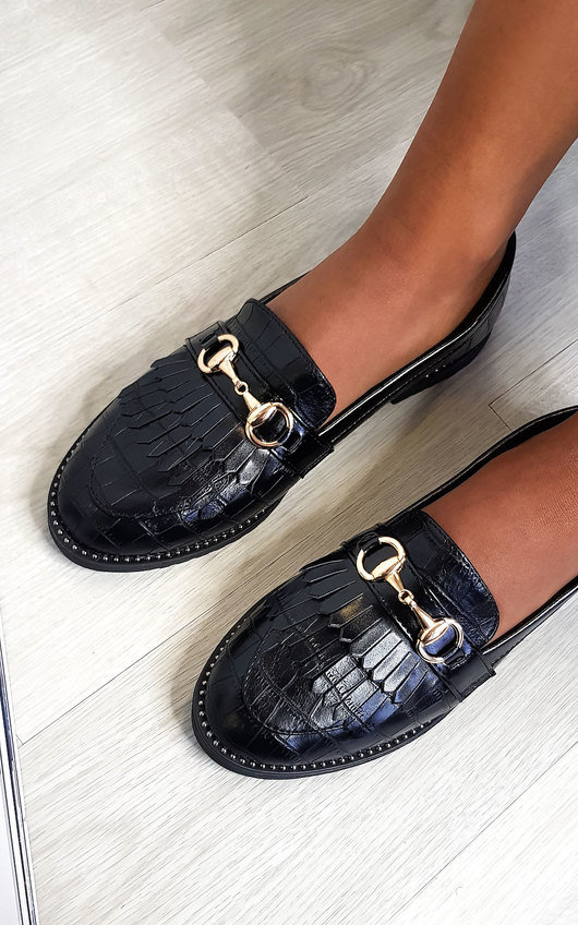 Radley Faux Leather Loafer Flats