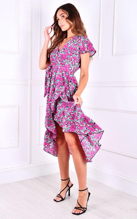 Rae Wrap Printed Midi Dress