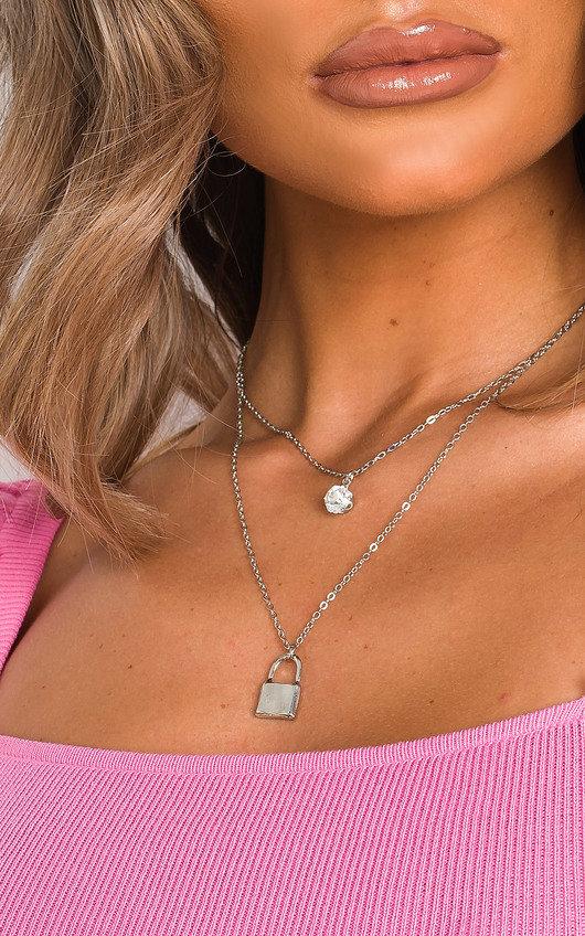 Raine Padlock and Jewel Necklace