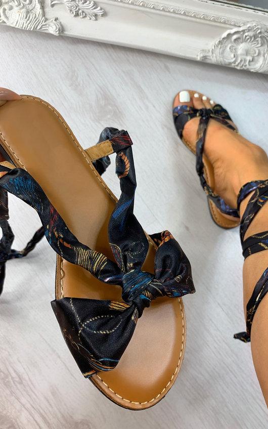 Raine Satin Ribbon Sandals