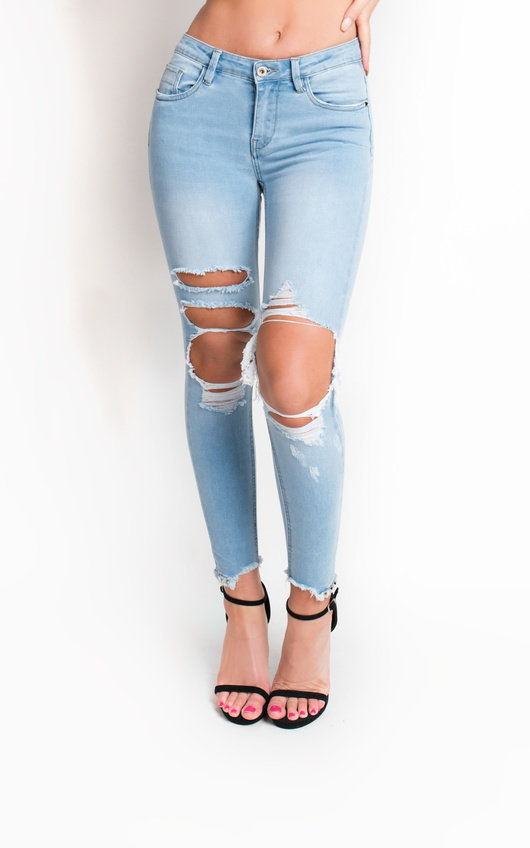 Raine Ripped Skinny Jeans