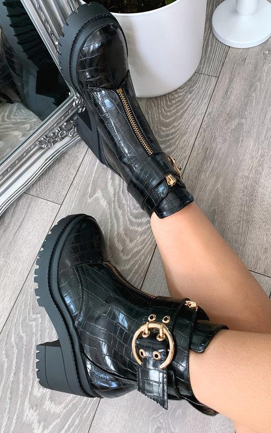 Rayn Zip Up Heeled Boots