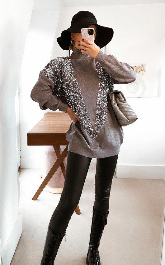 Rayna Sequin Embellished Jumper