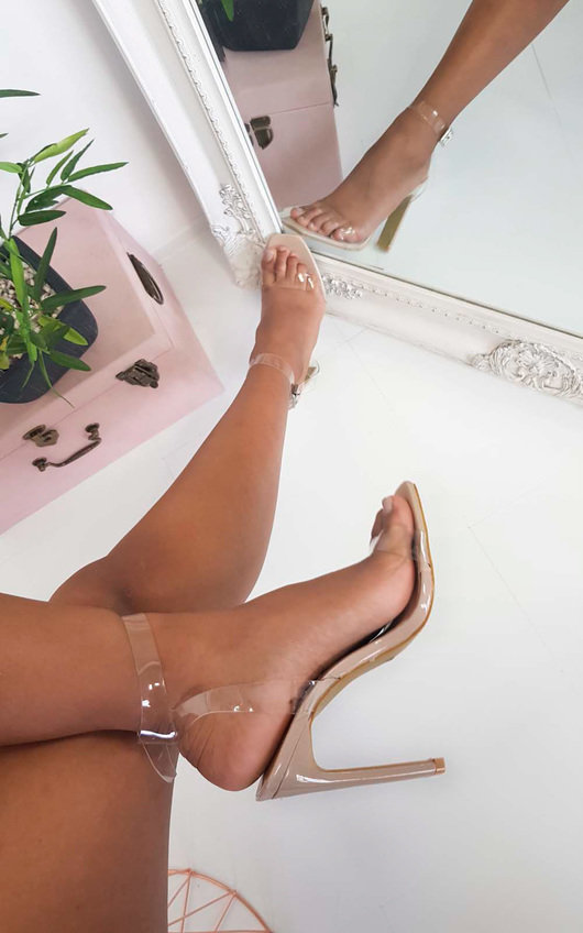 Razzi Barely There Perspex Heels