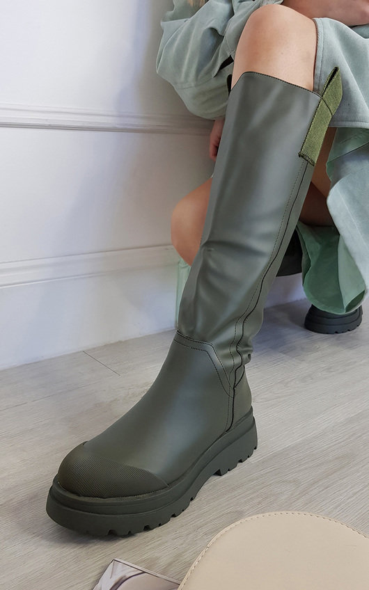 Razzi Knee High Chunky Boots