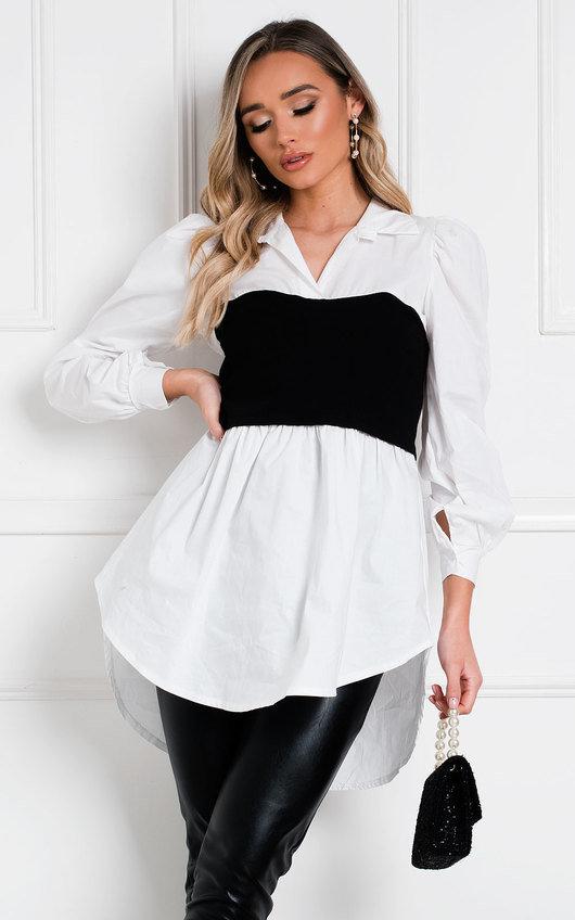 Razzi Oversized Shirt Top