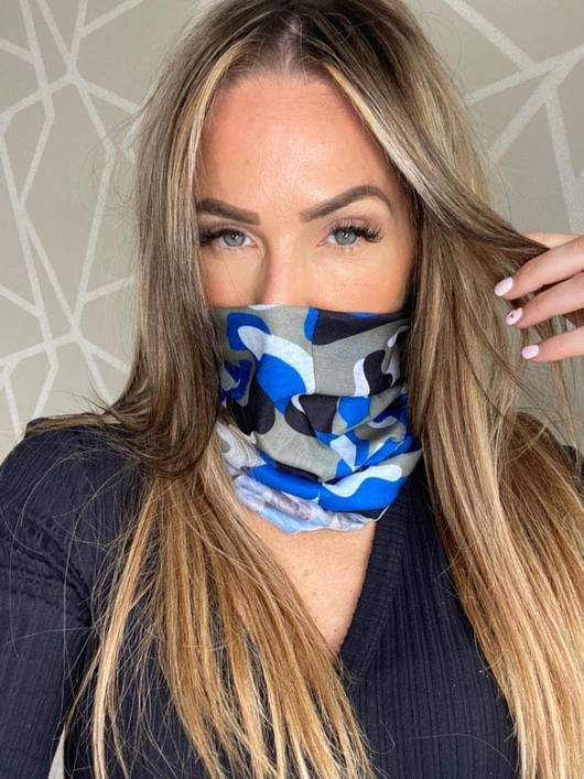 Re-Usable Printed Snood Face Mask