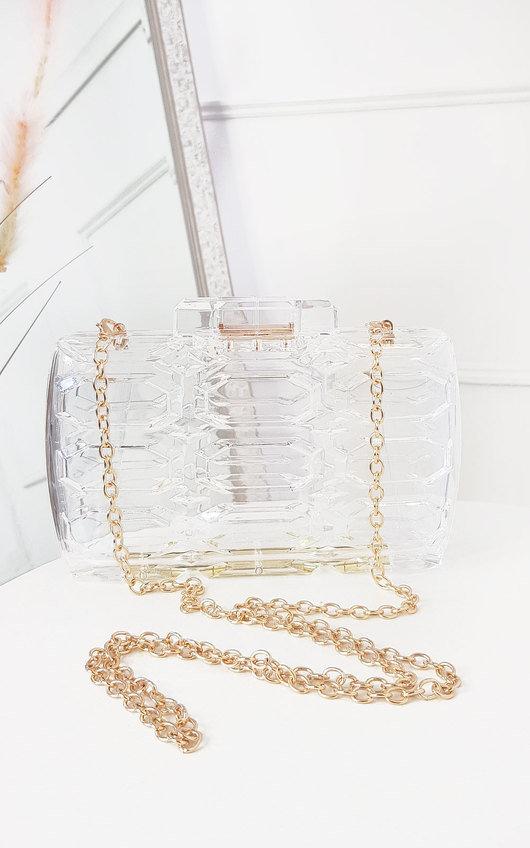 Reb Clear Statement Clutch Handbag