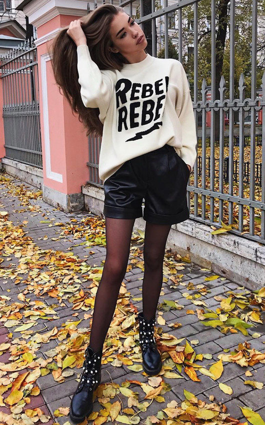 Rebel Slogan Knitted Jumper