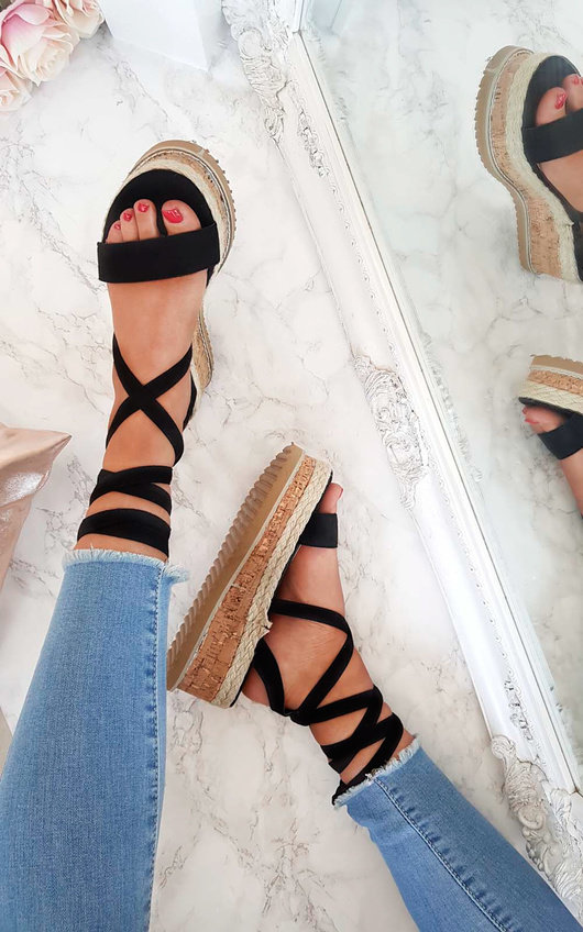 Reeva Strappy Wedge Sandals