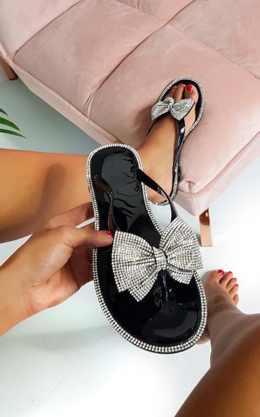 Regina Diamante Bow Flip Flop Sandals