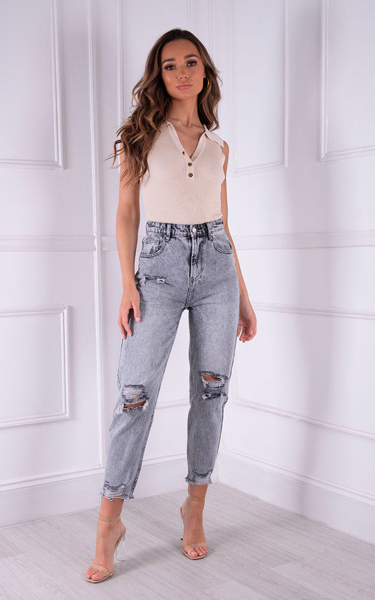 Rendall Button Up Collared Bodysuit