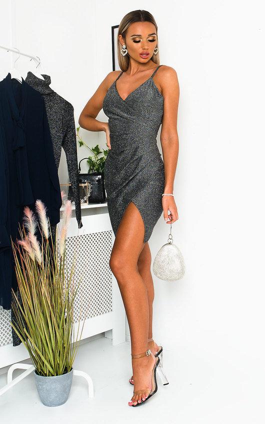 Renni Glitter Mini Bodycon Dress