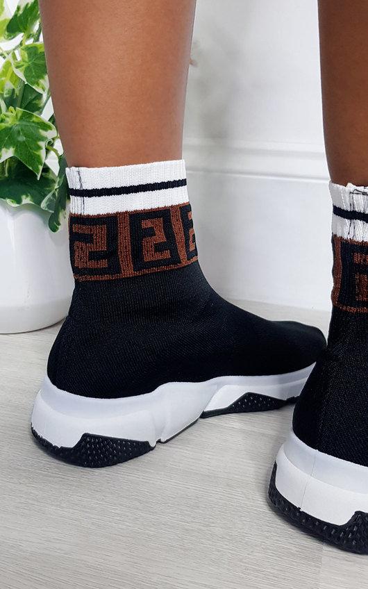 Rennie Printed Chunky Sock Trainers