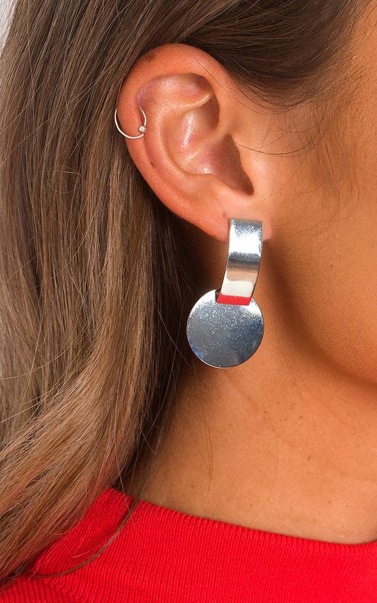Riri Circle Drop Earrings