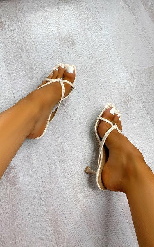 Riri Strappy Mule Heels