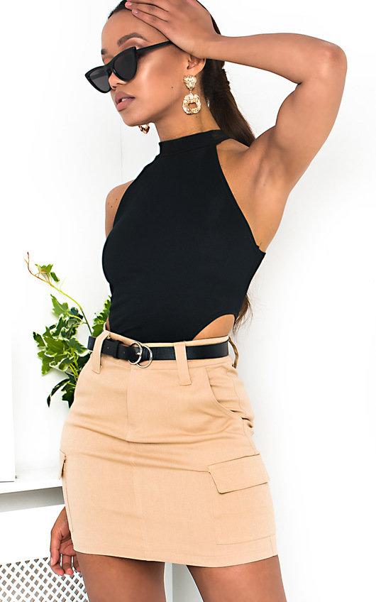Rita Belted Mini Skirt