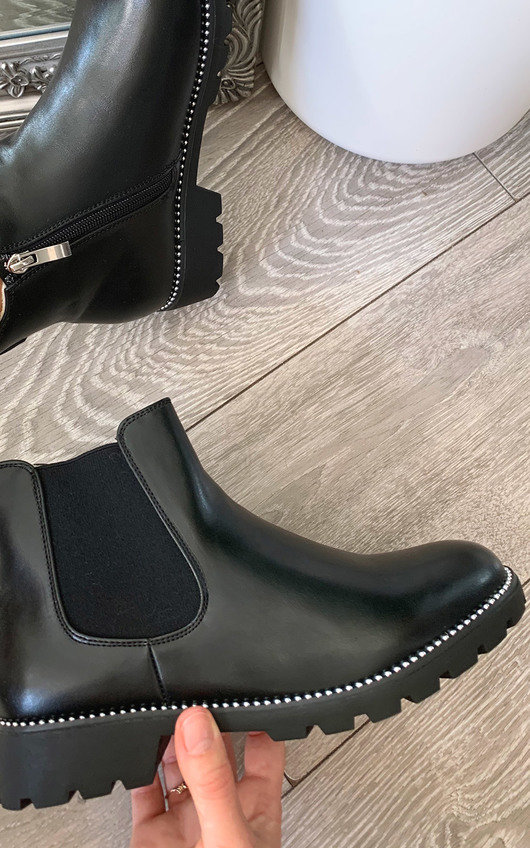 Rita Faux Leather Ankle Boots