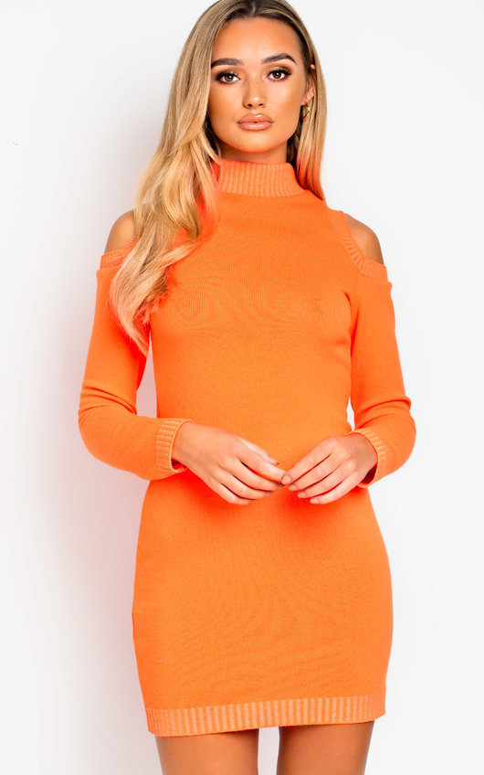 Rizz Oversized Cold Shoulder Jumper Dress