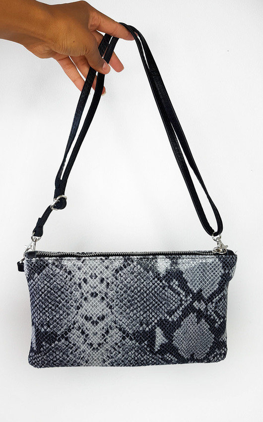 Robbie Snake Print Clutch Bag