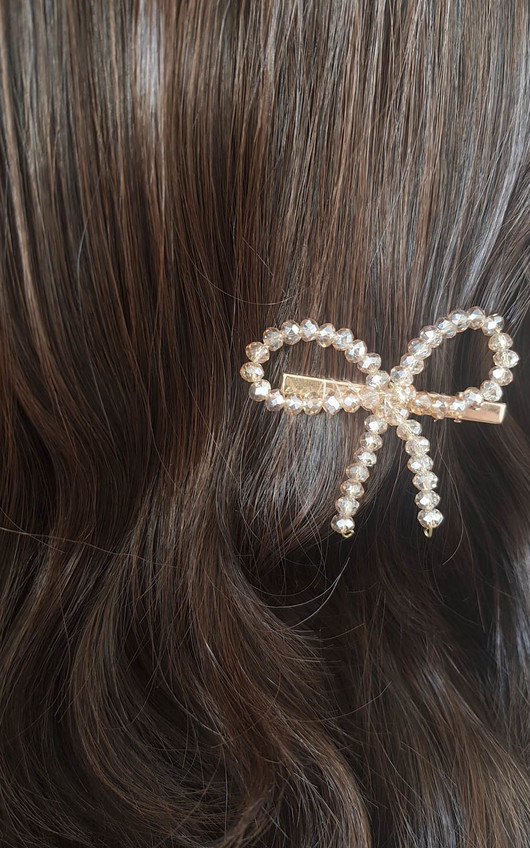 Robyn Bow Detail Hair Clip Gold