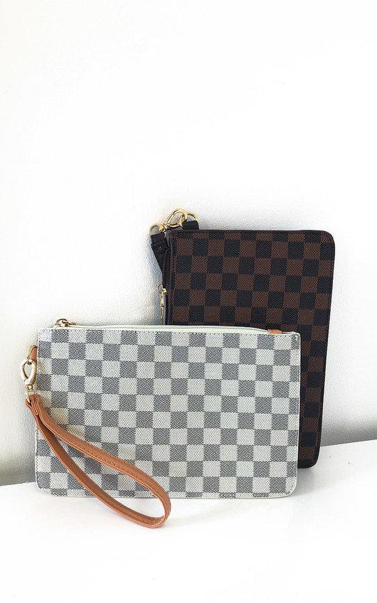 Robyn Check Clutch Bag