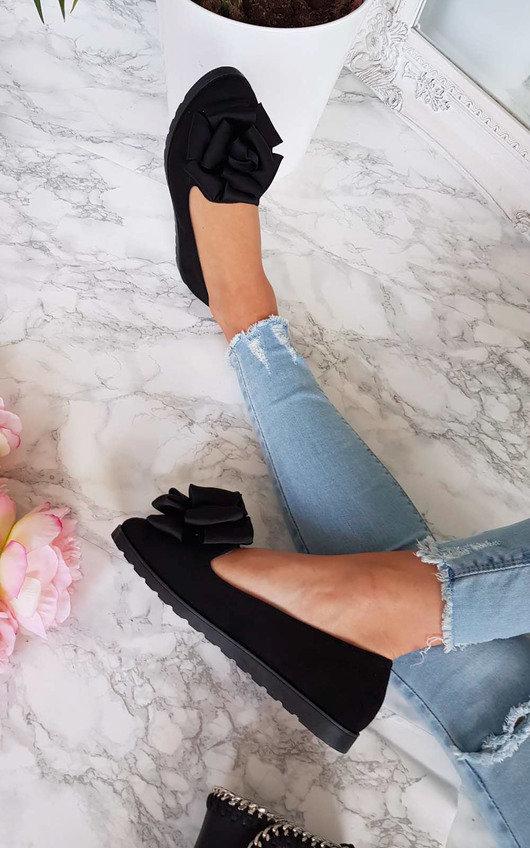 Robyn Floral Bow Flat Sandal