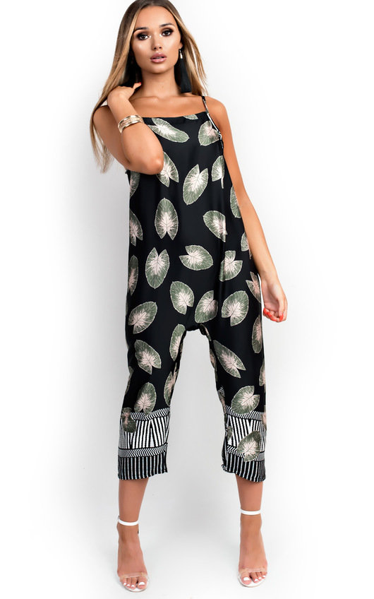 Rocha High Neck Tropical Jumpsuit