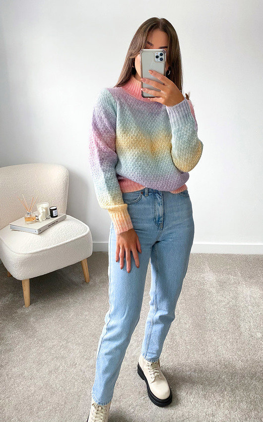 Rochelle High Neck Knitted Jumper