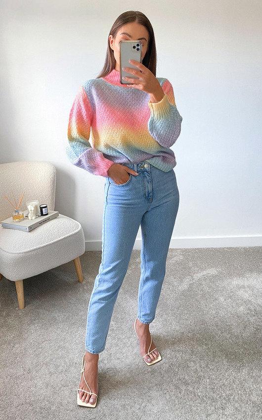 Rochelle High Neck Knitted Jumper