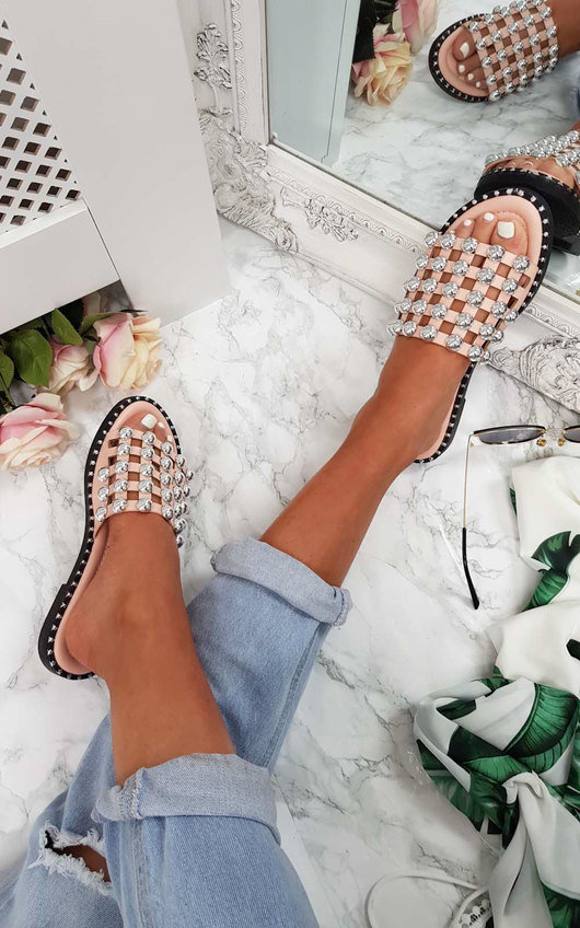 Romi Studded Caged Open Toe Sandals