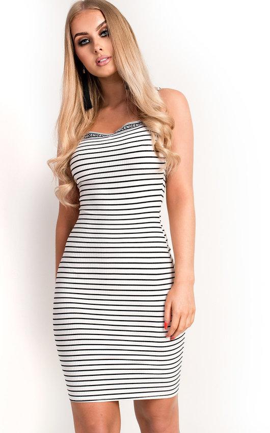 Romy Ribbed Striped Mini Dress