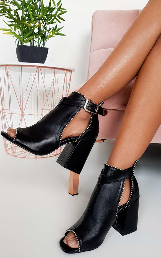 252249c0059 Ronnie Cut Out Block Heel Boots