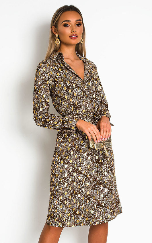 Rory Printed Shirt Midi Dress