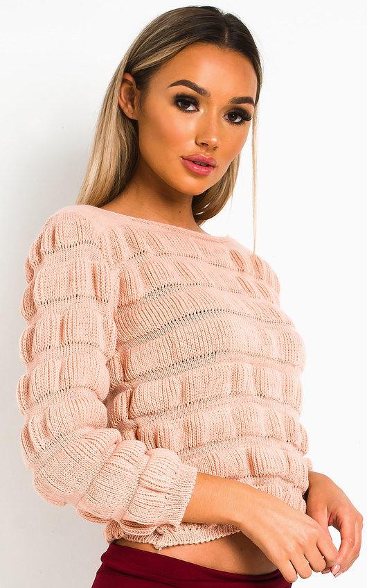 Rosa Crochet Style Knitted Jumper