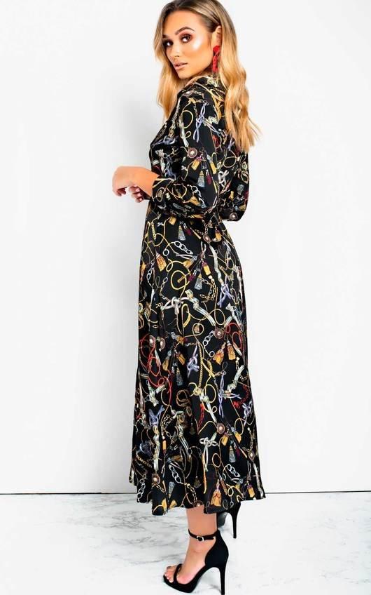 23d857496a0 Rose Belted Shirt Maxi Dress in Black