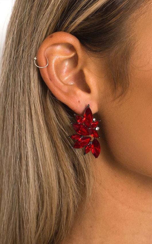 Rose Diamante  Earrings